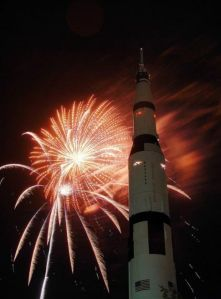Fireworks with the Saturn V at the U.S. Space & Rocket Center on Wednesday, July 4, 2012. (file photo by Dave Dieter | The Huntsville Times)