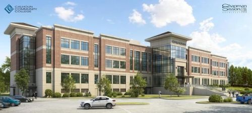 Rendering of $34 million facility to be built at Huntsville campus of Calhoun Community College.